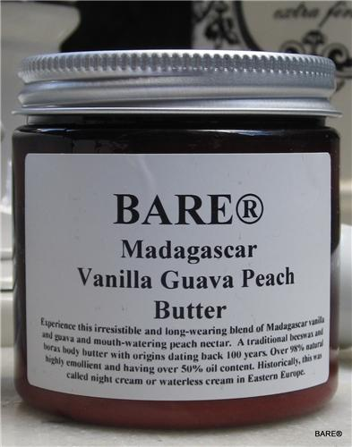 BARE Madagascar Vanilla Guava Peach Body Butter 8 oz.