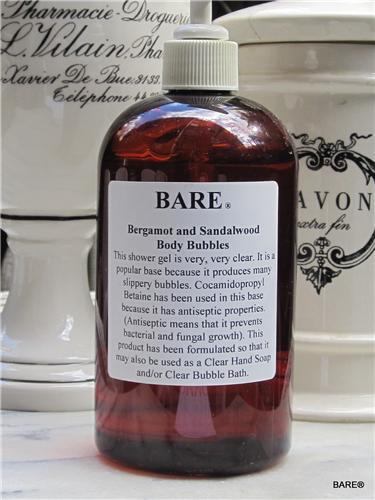 BARE Bergamot & Sandalwood Shower & Bath Gel