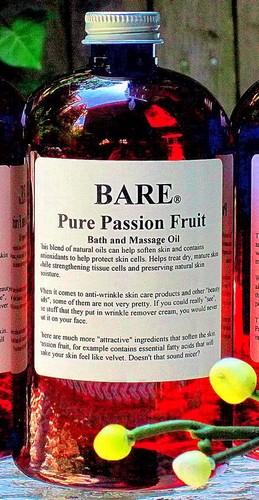 BARE PASSION FRUIT Massage & Bath Oil