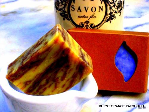 BARE BLOCK Burnt Orange Patchouli Soap