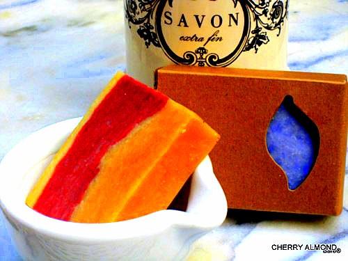 BARE BLOCK Cherry Almond Soap