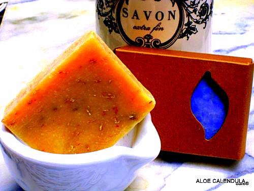 BARE NAKED BLOCK Aloe Calendula Soap