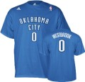 Oklahoma City Thunder Russell Westbrook Blue NBA Jersey T-Shirt.jpg