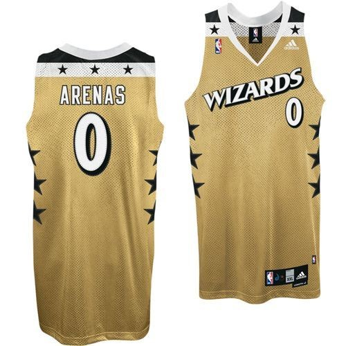 gilbert arenas gold wizards jersey