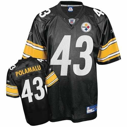 Reebok Pittsburgh Steelers Troy Polamalu Black NFL Jersey