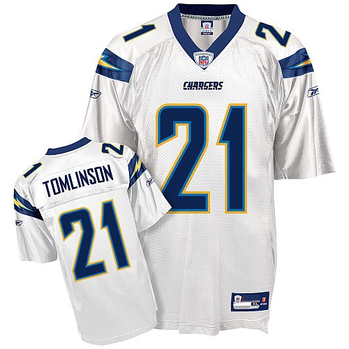 San Diego Chargers Away Jersey: American Football Shirts - Ladainian Tomlinson