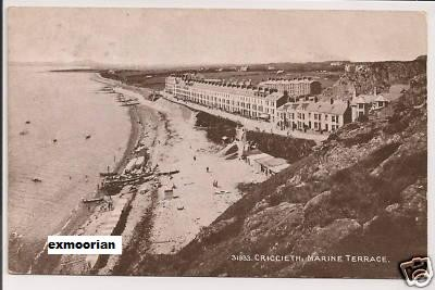 Criccieth marine terrace 1918 postcard old pictures for 50 marine terrace