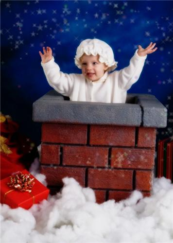 Chimney Photo Prop Children Christmas Holiday New