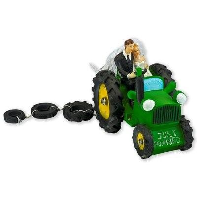 Bride and Groom on a Tractor - Wedding cake Topper - Geri\'s Wedding ...