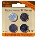 Replacement CR2032 Button Batteries 4 pieces 6204-