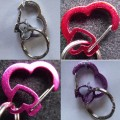 Heart rubit Dog Collar Tag Holder
