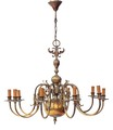 Antique Flemish 10 lamp ormolu brass chandelier light fitting FREE DELIVERY