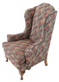 Antique 19C Victorian armchair bedroom side study library chair