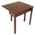 Antique 19C quality mahogany card tea side hall table