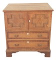 Antique Georgian oak gentleman's ladies dressing chest of drawers
