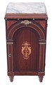 Antique quality mahogany burr walnut bedside cupboard table cabinet