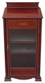 Antique Edwardian inlaid mahogany music cupboard display cabinet