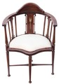 Antique Edwardian mahogany corner chair tub side hall bedroom