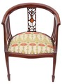 Antique Edwardian inlaid mahogany corner chair tub side hall bedroom