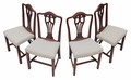 Antique set of 4 Victorian carved mahogany dining chairs