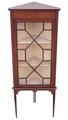 Antique Edwardian mahogany inlaid corner display cabinet
