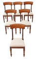 Antique set of 6 William IV/Regency 19C bar back mahogany dining chairs