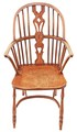Antique elm Windsor armchair carver hall side dining chair