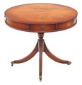 Antique Bevan Funnell Reprodux Regency mahogany drum table
