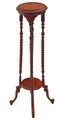 Antique style mahogany torchiere jardiniere table pedestal stand plant