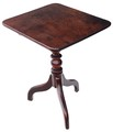 Antique Georgian mahogany tilt top supper tea occasional lamp table