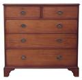 Antique large Georgian C1800 mahogany chest of drawers