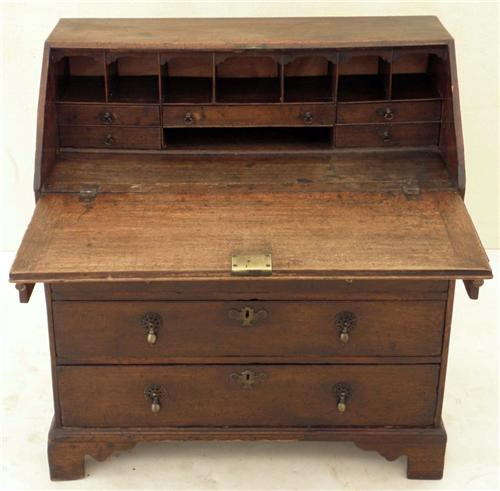 Picture Antique 18C Georgian oak bureau writing desk table 135e.jpg 7/2/2011