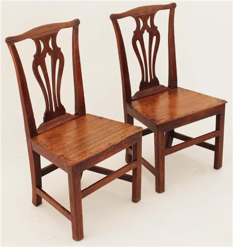 Antique pair of Georgian 18th Century oak dining hall side chairs 069e.jpg 12/6/2011