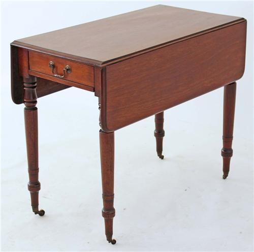Antique 19C Georgian mahogany Pembroke tea side occasional table 150e.jpg 2/3/2012
