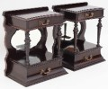Antique pair of small Victorian 19C mahogany bedside tables cupboards 153e.jpeg