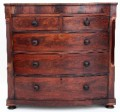 Antique 19C Regency bow front mahogany chest of drawers 003e.jpeg