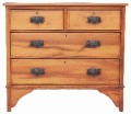 Antique small Edwardian satinwood chest of drawers