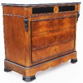 Antique 19C Victorian walnut and marble chest of drawers