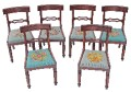 Antique set of 6 19C Victorian mahogany dining chairs