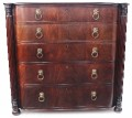 Antique large 19C Regency mahogany chest of drawers bow front
