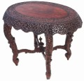 Antique 19C Victorian Anglo Indian carved centre window side table