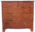 Antique Georgian mahogany serpentine front chest of drawers