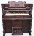 Antique 19C Victorian American Newman Brothers Pedal pump organ