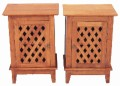 Pair of oak ash bedside tables cabinets cupboards