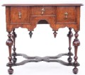 Antique William and Mary style walnut lowboy side table