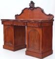 Antique 19C Victorian mahogany chiffonier sideboard cupboard serving table
