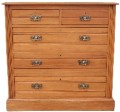 Antique 19C Victorian (poss early 20C) satinwood chest of drawers