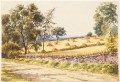 Antique British 19th C Victorian watercolour landscape painting 1880 FREE DELIVERY