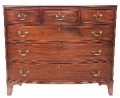 Antique large Georgian Regency 18C 19C mahogany bow front chest of drawers