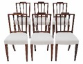 Antique set of 6 Georgian revival carved mahogany dining chairs